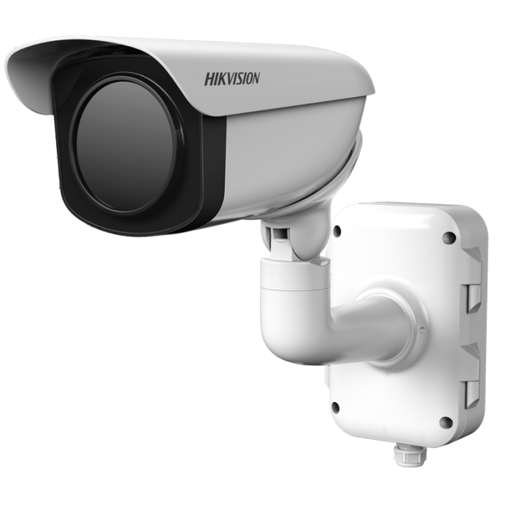 DS-2TD2366-100 Hikvision Outdoor network thermal bullet 640x512 100mm lens intrusion and line cross temperature exception alarm fire detection audio in/out 24VAC/12VDC 22W
