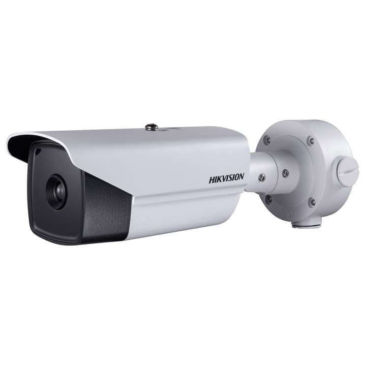 DS-2TD2136-10 Hikvision Outdoor network thermal bullet 384x288 10mm lens intrusion and line cross temperature exception alarm fire detection audio in/out 24VAC/12VDC/HiPoE 18W