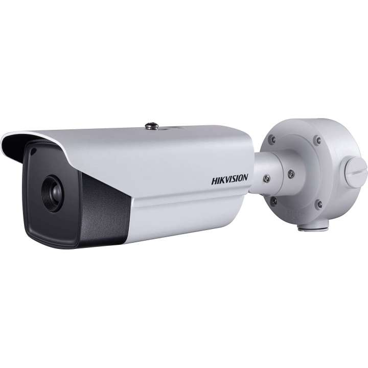 DS-2TD2136T-10 Hikvision Outdoor network Accurate Temperature thermal bullet 384x288 10mm lens intrusion and line cross temperature exception alarm fire detection audio in/out 24VAC/12VDC/Hi-PoE 20W