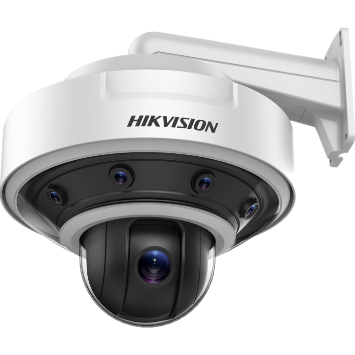 DS-2DP0818Z-D Hikvision PanoVu 8MP (4x2MPx5mm) 180 Panoramic camera with 2MP PTZ 36x zoom and 3D Positioning Smart Suite Analytics IP66 30VDC PS Incl. 70W