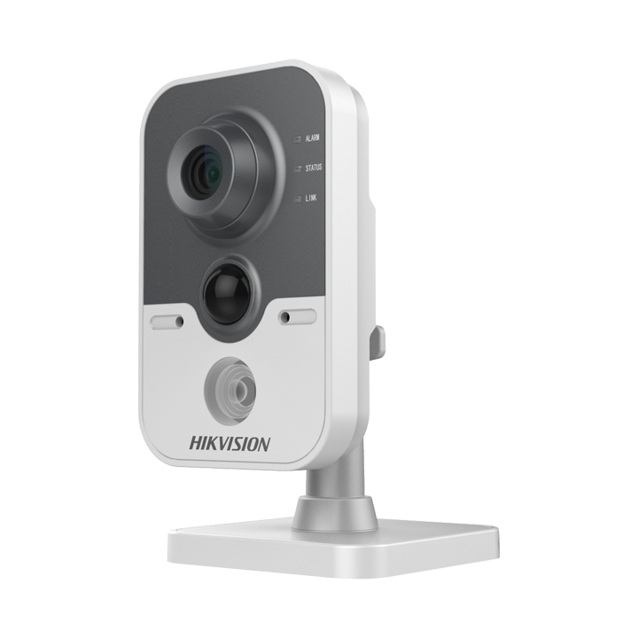 DS-2CD2422FWD-IW4mm Hikvision Cube Camera 2MP/1080p H264 4mm WiFi DWDR Day/Night IR (10m) Mic speaker PIR I/O PoE/12VDC