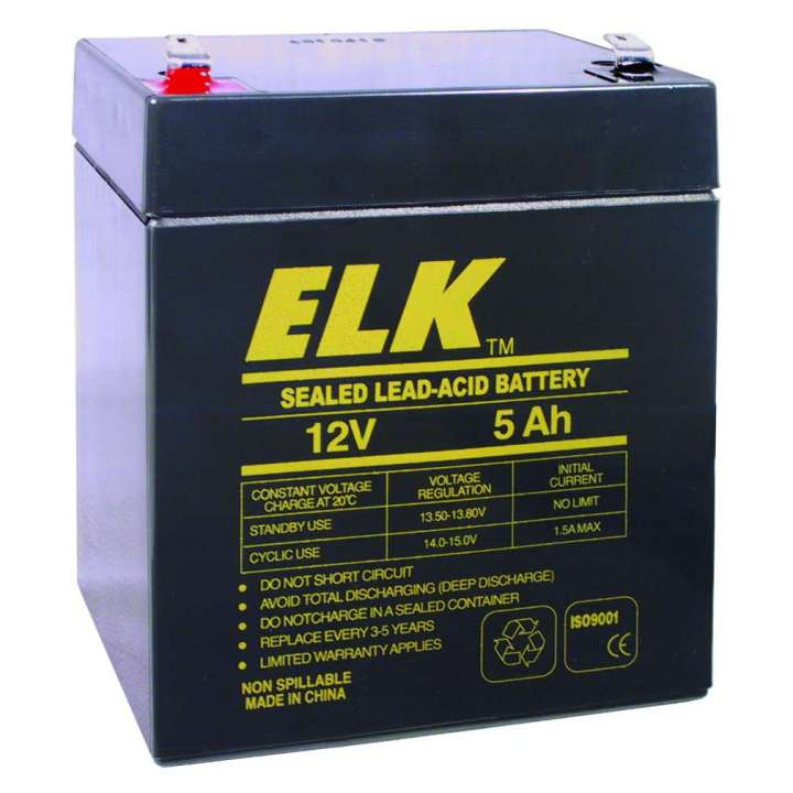 ELK1250 ELK LEAD ACID RECHARGEABLE 12V 5AH BATTERY ************************* SPECIAL ORDER ITEM NO RETURNS OR SUBJECT TO RESTOCK FEE *************************