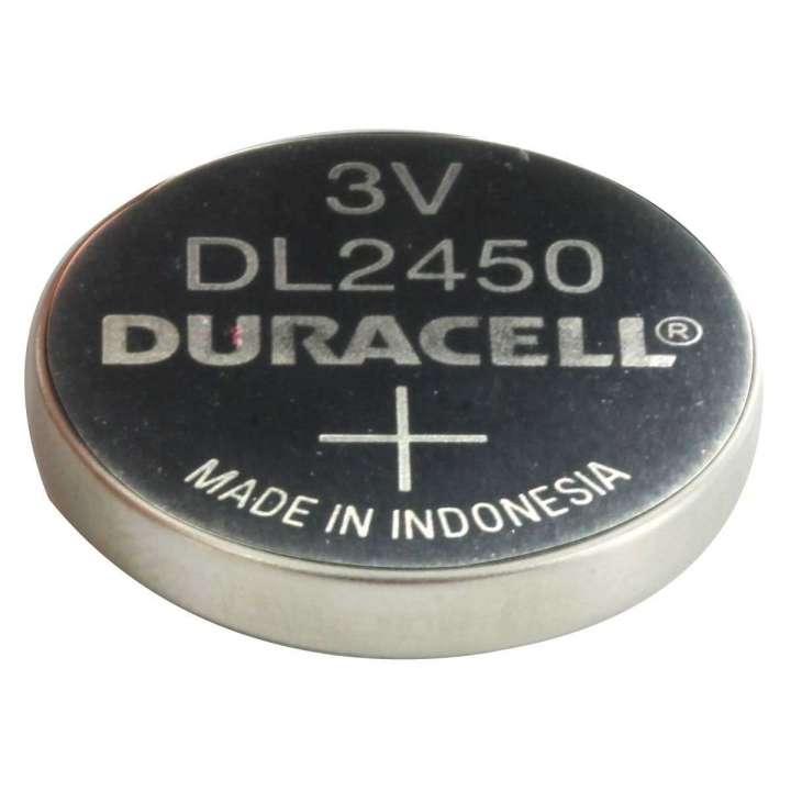 DL2450BPK DURACELL 3V FLAT LITHIUM BATTERY FOR DSC MICRO 1PK CARDED