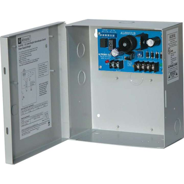 AL201UL ALTRONIX 12VDC @ 1.75A UL LISTED POWER SUPPLY WITH BATTERY SUPERVISION IN CABINET