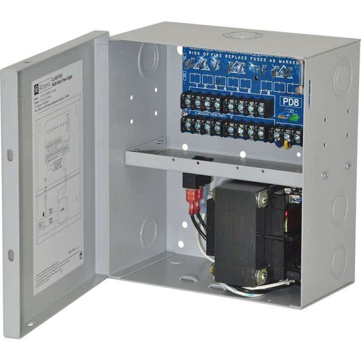 "AL168175CB ALTRONIX 8 Output Control Panel Power Supply - 16VAC @10 amp, PTC outputs, encl. 8.5""H x 7.5""W x 3.5""D, 115VAC input."" ************************* SPECIAL ORDER ITEM NO RETURNS OR SUBJECT TO RESTOCK FEE *************************"