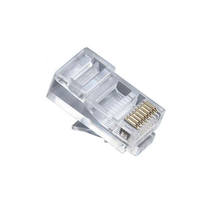 106152C PLATINUM RJ-45 (8P8C), Round-Solid 3 Prong. 25/Clamshell.