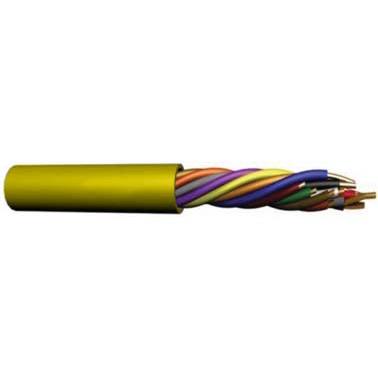 U2204-4C5 UPG 22/4 conductor (7/30) Jacketed UL NEC 800 or ETL listed Type CM or CL2, Yellow Jacket, 500' COIL PACK