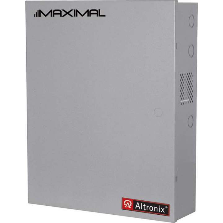 "MAXIMAL33D ALTRONIX ACCESS POWER CONTROLLER OUTPUT POWER: (12VDC @ 6AMP + 12VDC @ 6AMP) OR (24VDC @ 6AMP + 24VDC @ 6AMP) OR (12VDC @ 6AMP + 24VDC @ 6AMP) ENCLOSURE: 26""H X 19""W X 6.25""D ACCOMMODATES UP TO 4 12VDC/12 AH BATTERIES"