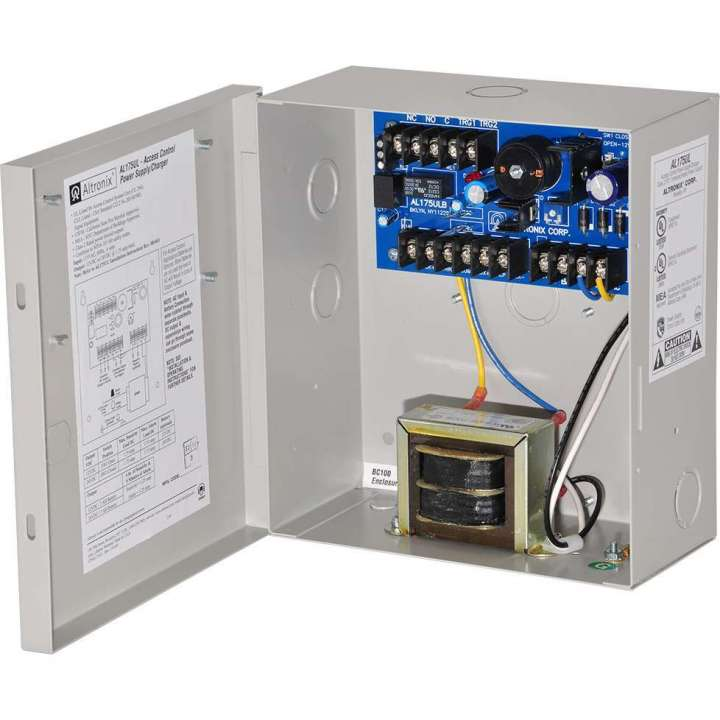 AL175UL ALTRONIX UL LISTED ACCESS CONTROL POWER SUPPLY 12/24VDC @ 1.6 AMP W INCLUDES ENCLOSURE