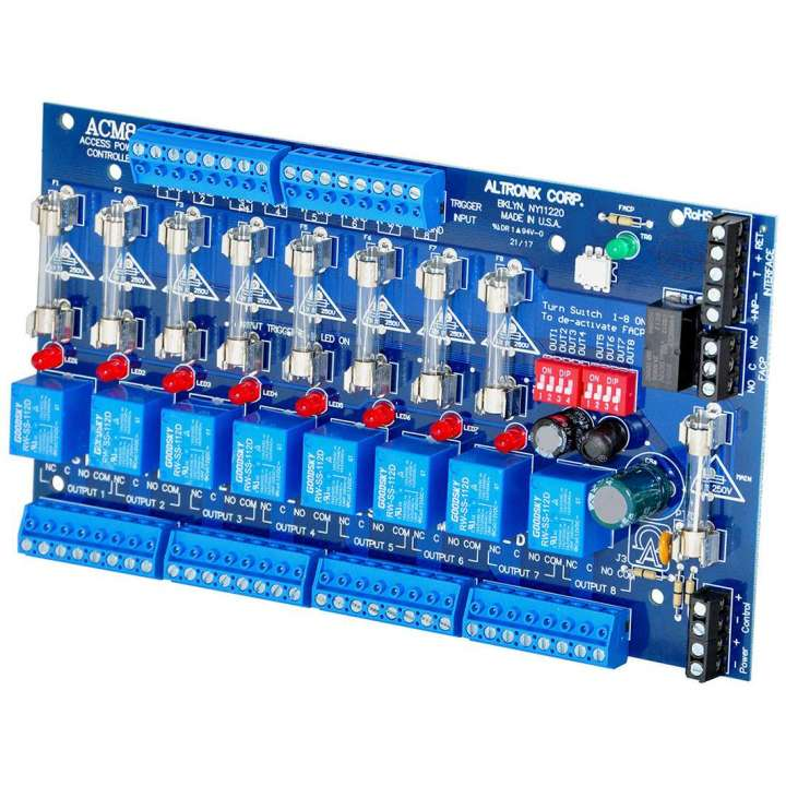 ACM8 ALTRONIX 8 FUSED RELAY OUTPUT POWER CONTROLLER FACP INTERFACE 8 TRIGGER INPUTS WE OR DRY RELAY OUTPUTS ************************* SPECIAL ORDER ITEM NO RETURNS OR SUBJECT TO RESTOCK FEE *************************