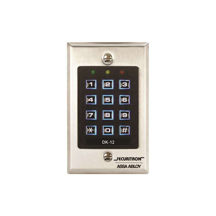 DK-12 SECURITRON SINGLE GANG DIGITAL KEYPAD 99 USERS ************************* SPECIAL ORDER ITEM NO RETURNS OR SUBJECT TO RESTOCK FEE *************************