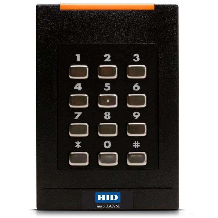 921PTNNEK00000 HID RDR, RPK40, MULTICLASS, SE REV E, KPD, STD PROX, STD, WIEGAND, PIG, BLK, STD 1 SECURITY, LED RED, FLASH GRN, BZR ON, IPM OFF, KPF-4-BIT, 32 BIT