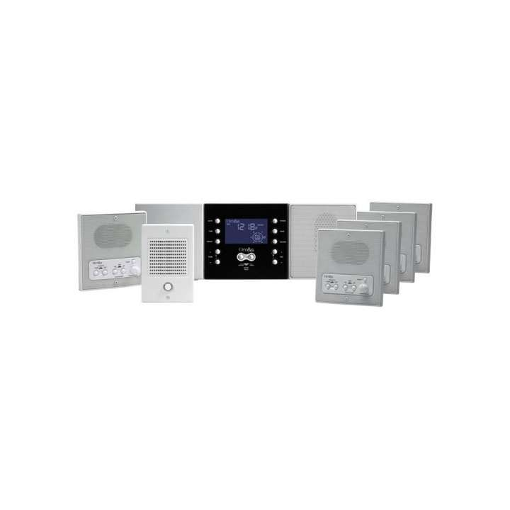 DMC4PACK LINEAR MUSIC/COMMUNICATION SYSTMEM PACKAGE: (1)- Model DMC3-4 Master Station (White) (4) - Model DMC4RS Room Stations (White) (1) - Model DMC4RW Patio Station (1) - Model DS3B Intercom Door Speaker with Bell Button (1) - Model MC3 3-Note Chime Module ************************** CLEARANCE ITEM- NO RETURNS *****ALL SALES FINAL****** **************************