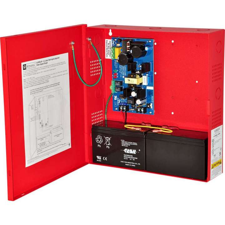 AL300ULXR ALTRONIX UL LISTED FIRE, BURG, ACCESS CONTROL POWER SUPPLY IN RED CABINET 12/24VDC @ 2.5 AMP ************************* SPECIAL ORDER ITEM NO RETURNS OR SUBJECT TO RESTOCK FEE *************************