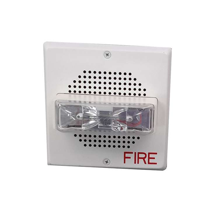 E70-24MCW-FW WHEELOCK #9023 MULTI-CANDELA SPEAKER/STROBE WALL MOUNT ONLY SQUARE,WHITE 15/30/75/110CD