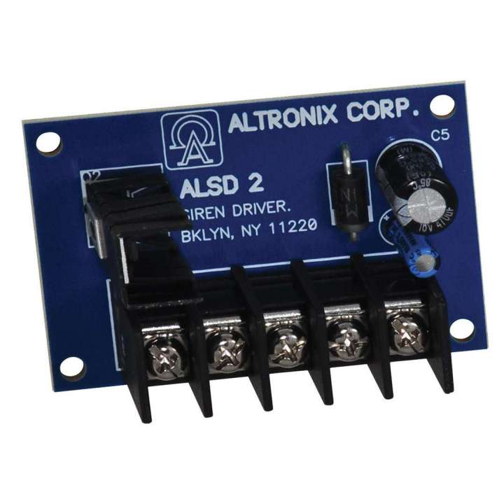 ALSD2 ALTRONIX 6VDC TO 12VDC 2 CH (YELP & STEADY) COMPACT VERY LOW CURRENT DRAW