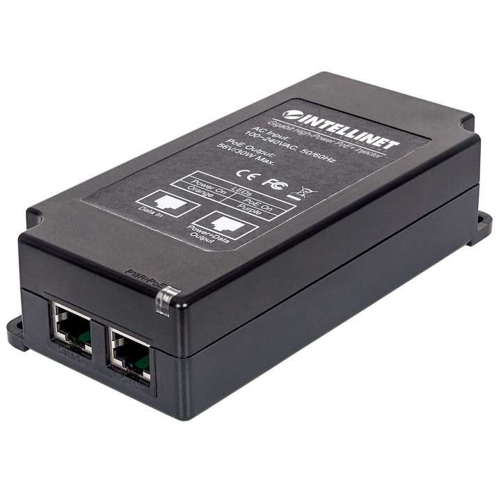 561037 INTELLINET 1-Port Gigabit High-Power PoE+ Injector, 30W, Plastic ************************* SPECIAL ORDER ITEM NO RETURNS OR SUBJECT TO RESTOCK FEE *************************
