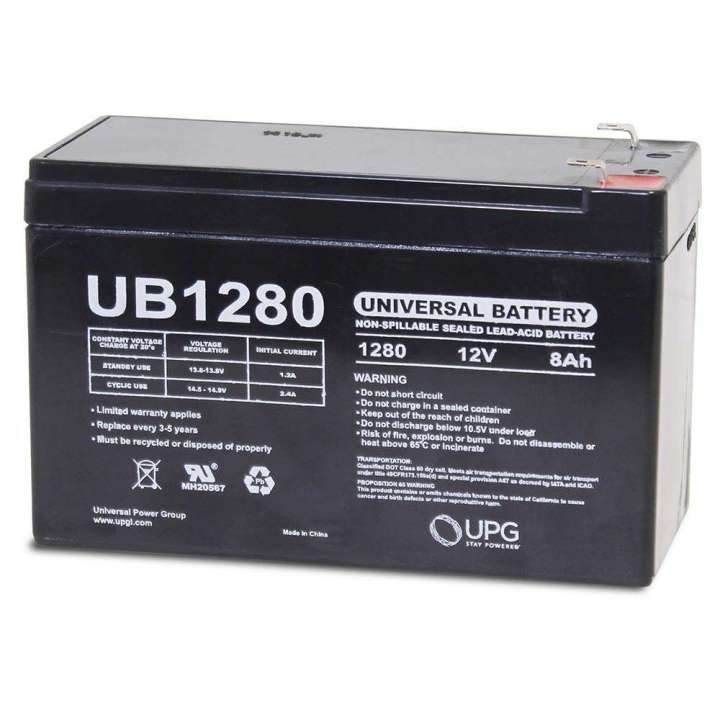 UB1280 UPG 12 Volt 8.0AH Sealed Lead Acid Battery D5743 46021 ************************* SPECIAL ORDER ITEM NO RETURNS OR SUBJECT TO RESTOCK FEE *************************