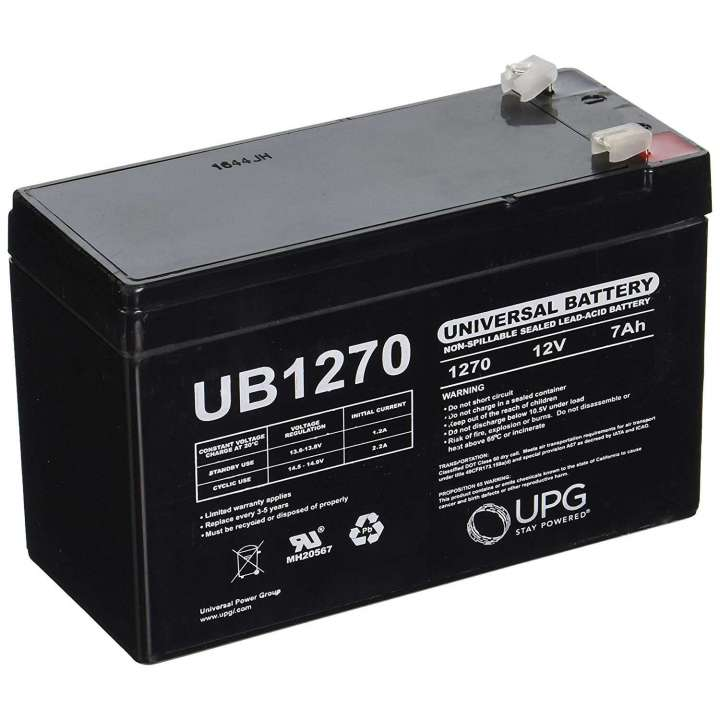 40800 UPG UB1270 12V 7Ah F1 AGM Battery