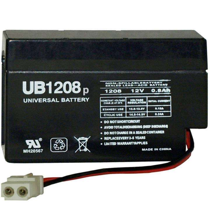 UB1208 UPG 12 Volt 0.8AH Sealed Lead Acid Battery 45791 ************************* SPECIAL ORDER ITEM NO RETURNS OR SUBJECT TO RESTOCK FEE *************************