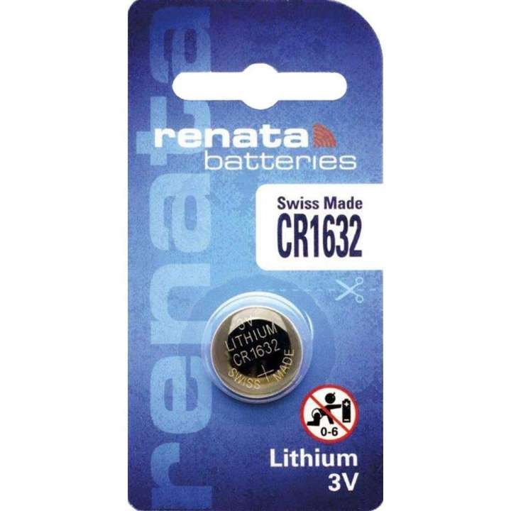 CR1632 VINNIC LITHIUM CR1632 3-VOLT COIN CELL BATTERY, SOLD SINGLE, 5 TO A PACK - USED IN NANO TRANSMITTERS