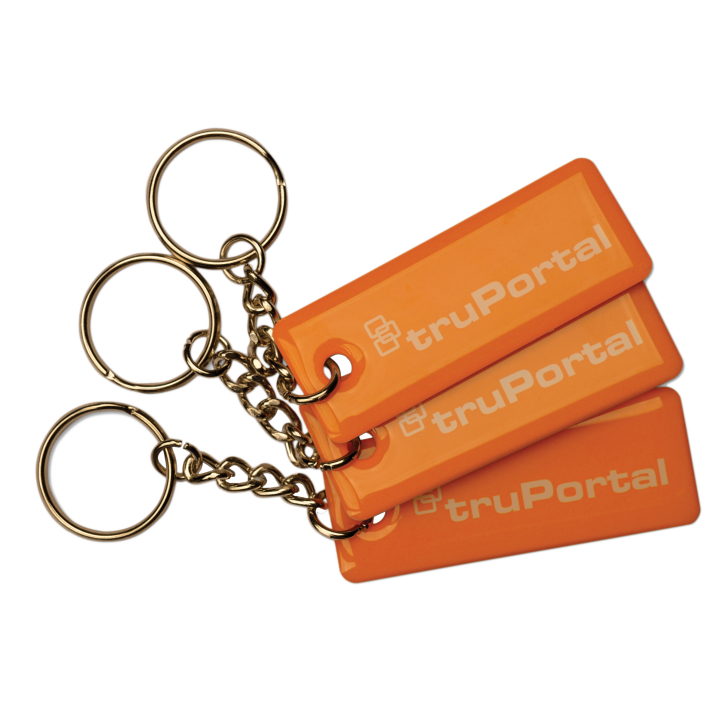 TP-MFC-KF-LG-25PK UTC TRUPORTAL CREDENTIAL - MIFARE CLASSIC KEYFOBS EPOXY SLENDER - TRUPORTAL LOGO - 25 PACK ************************* SPECIAL ORDER ITEM NO RETURNS OR SUBJECT TO RESTOCK FEE *************************