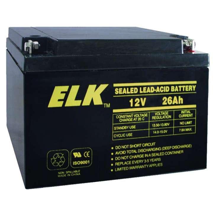 ELK12260 ELK BATTERY; LEAD ACID 12V-26.0Ah