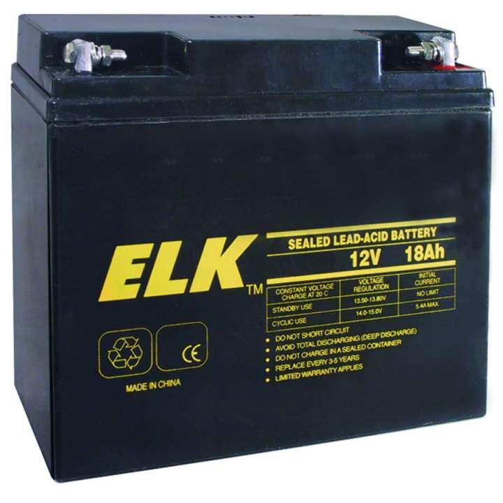 ELK12180 ELK 12V 18AH BATTERY RECHARGEABLE ************************* SPECIAL ORDER ITEM NO RETURNS OR SUBJECT TO RESTOCK FEE *************************