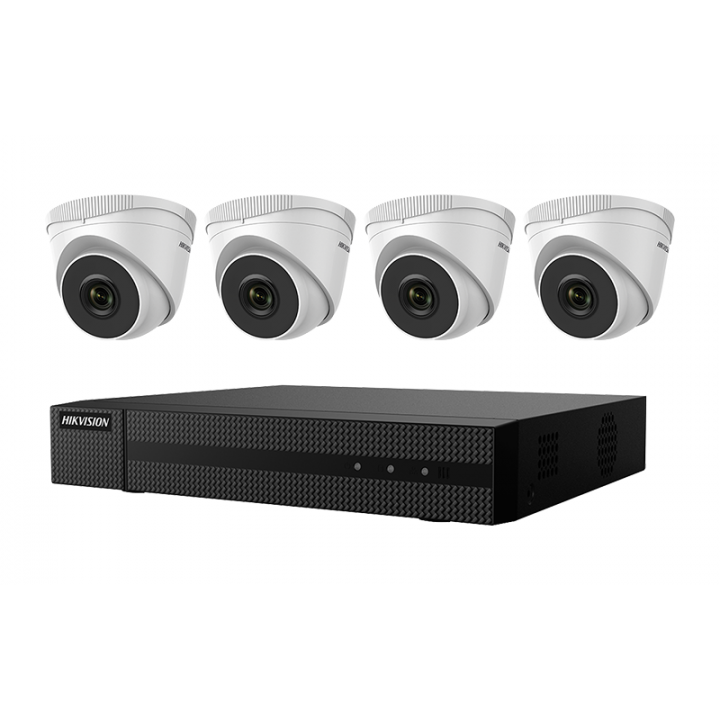 EKI-Q41T44 Hikvision Kit, Four 4MP Outdoor Turret Cameras with 2.8mm lens and 4ch NVR with PoE, 4MP recording, H.265+ compression, 1TB HDD ************************* SPECIAL ORDER ITEM NO RETURNS OR SUBJECT TO RESTOCK FEE *************************