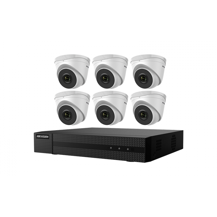 EKI-Q82T26 Hikvision Kit, Six 2MP Outdoor Turret Cameras with 2.8mm lens and 8ch NVR with PoE, 4MP recording, H.265+ compression 2TB HDD ************************* SPECIAL ORDER ITEM NO RETURNS OR SUBJECT TO RESTOCK FEE *************************