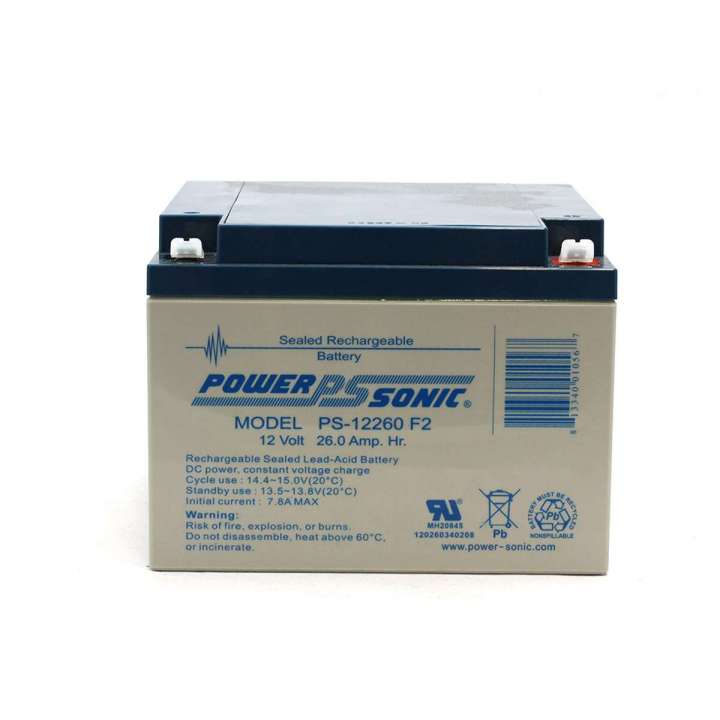 PS-12260F2 POWERSONIC 12V 26AMP BATTERY W/ F2 TABS ************************* SPECIAL ORDER ITEM NO RETURNS OR SUBJECT TO RESTOCK FEE *************************