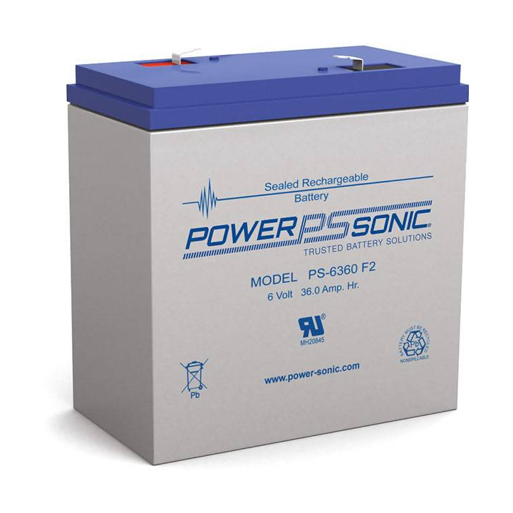 PS-6360-F2 POWERSONIC 6 VOLT 36 AMP BATTERY ************************* SPECIAL ORDER ITEM NO RETURNS OR SUBJECT TO RESTOCK FEE *************************