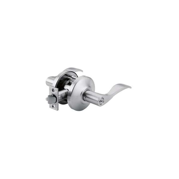 C880EUDLRE6265 RUTHERFORD Storeroom Lever handle lock, electrically unlocked (fail-secure), 12VDC