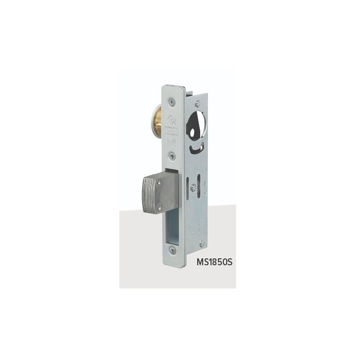 MS1850S-450-335 ADAMS RITE MS HOOKBOLT 1 1/2 INCH BACKSET FLAT FACEPLATE 335 (BLACK ANODIZED)