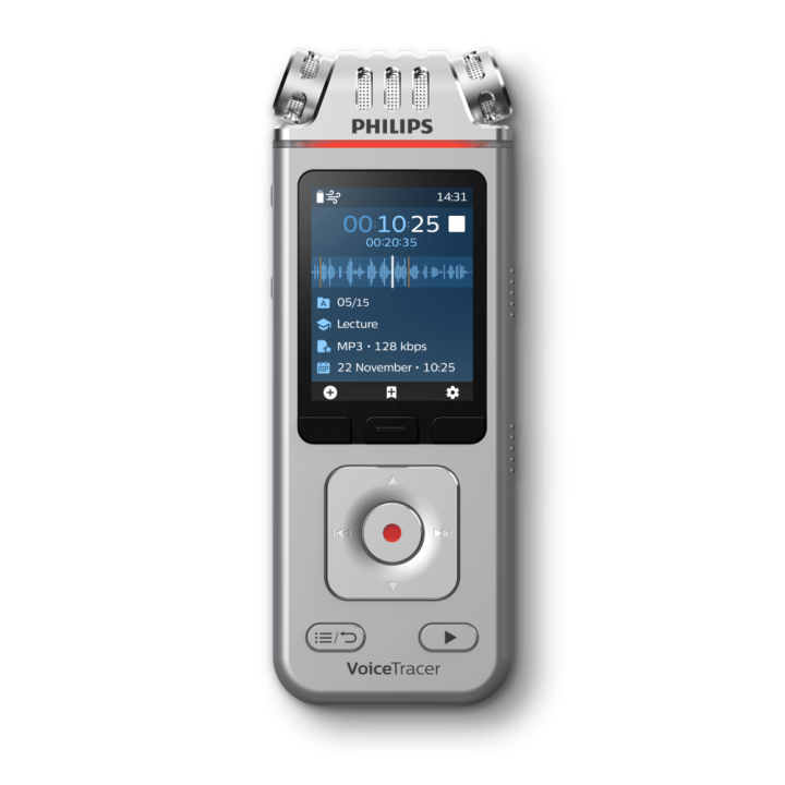 PSP-DVT4110 PHILIPS VOICE TRACER WITH 3MIC - APP CONTROL & SHARE FOR LECTURES