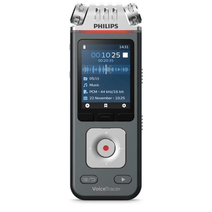 PSP-DVT6110 PHILIPS VOICE TRACER WITH 24 BIT/96kHz - 3MIC - APP CONTROL AND SHARE FOR MUSIC