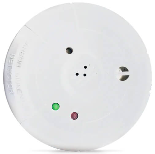"""ISEC-CARBON MON NAPCO Wireless carbon monoxide detector, 5-3/8 diameter and approx. 2"""" profile, uses a 3v lithium battery (cr123a) for long life, monitor alarms, restores, low battery, tamper and status, UL 2075, UL 2034"""