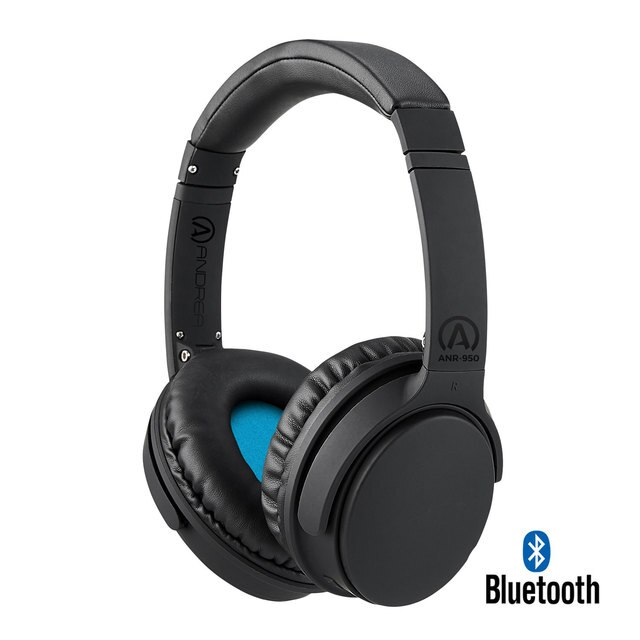 AND-C1-1032800-50 ANDREA ANR-950 WIRELESS BLUETOOTH HEADPHONES WITH ACTIVE NOISE REDUCTION