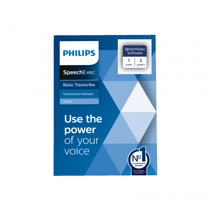 PSP-LFH4622/00 PHILIPS SPEECHEXEC TRANSCRIBE 2 YEAR SUBSCRIPTION BOX