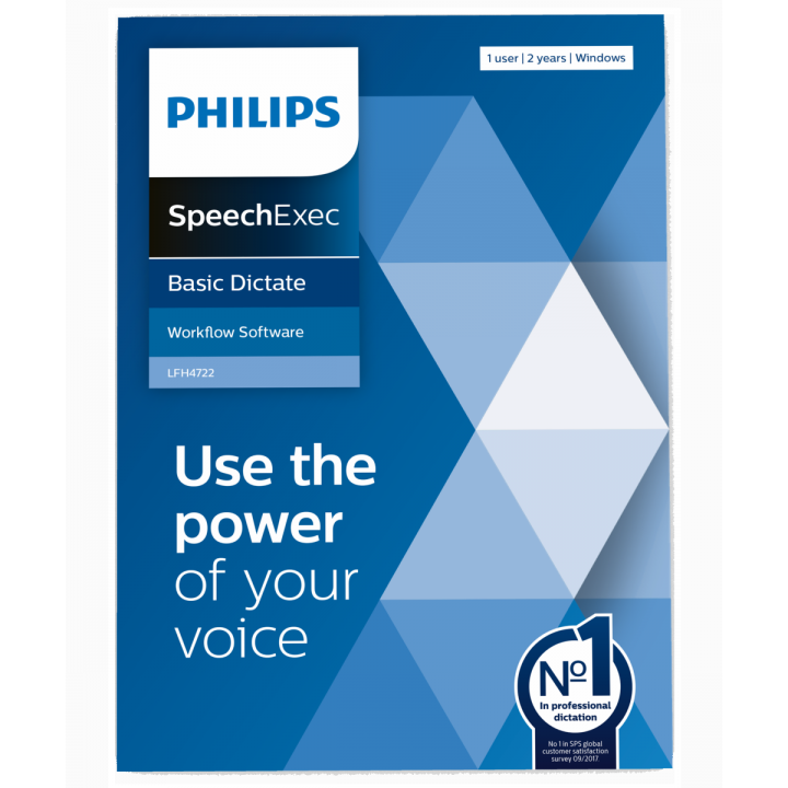 PSP-LFH4722/00 PHILIPS SPEECHEXEC DICTATEE 2 YEAR SUBSCRIPTION BOX